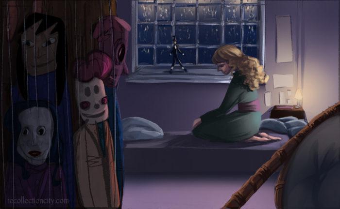 Valeska in her room